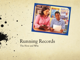 Running Record Powerpoint
