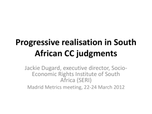 Progressive realisation in South African CC judgments