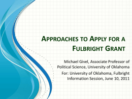 Applying For Fulbright Presentation