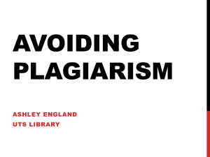 Avoiding Plagiarism - UTS Library - University of Technology, Sydney