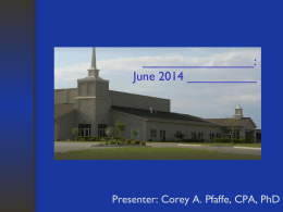 June 2014 Mission Institute