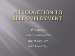 Self-Employment Presentation