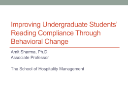 Reading Compliance Through - Schreyer Institute for Teaching