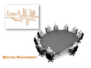 3.2.2 Meeting Management