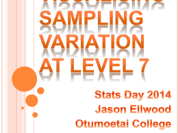 Visualising sampling Variation at Level 7