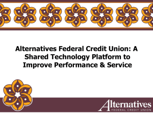 A Shared Technology Platform to Improve Performance & Service