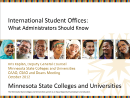 International Student Office Compliance Issues