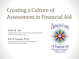 The Culture of Assessment in a Financial Aid Office