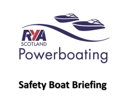 RYA Safety Boat Briefing