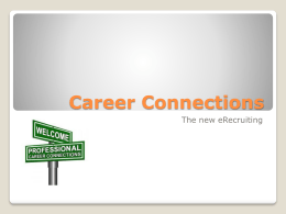 This is what we uploaded from Experience to Career Connections