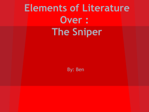 Elements of Literature Over : The Sniper