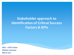 Presentation IV.2 Stakeholder approach to identification of Critical