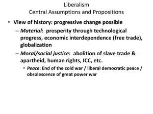 Liberalism Central Assumptions and Propositions