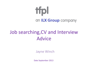 CV and Interview Advice (2)