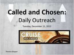 Called & Chosen: Daily Outreach