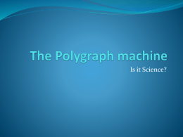 The Polygraph machine