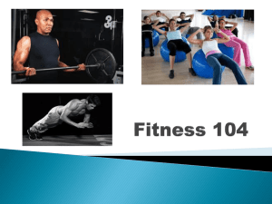 Fitness 104 PowerPoint