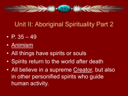 Aboriginal Spirituality Part II File
