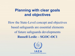 Planning with clear goals and objectives