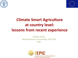Initiation Workshop: Climate Smart Agriculture