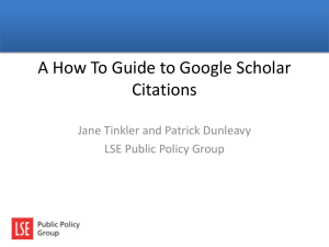 Using Google Scholar Citations and Mendeley