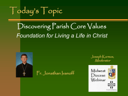 Clarifying Core Values - Diocese of the Midwest