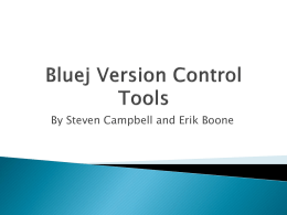 Bluej Version Control Tools