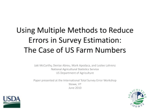 Using Multiple Methods to Reduce Errors in Survey Estimation: The