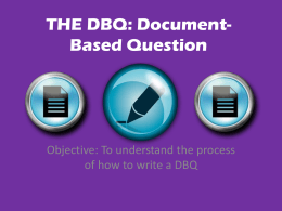THE DBQ: Document