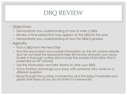 DBQ Review - inetTeacher.com