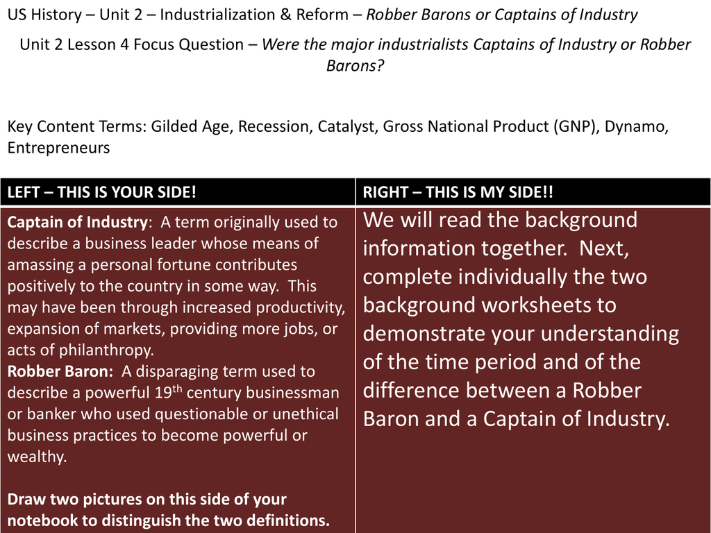 captain of industry or robber baron