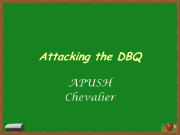 Attacking the DBQ