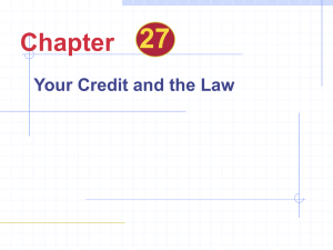 Credit Laws Chapter 27