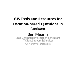 GIS Tools and Resources for Business Use