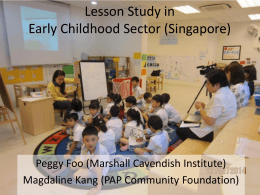 Lesson Study in Early Childhood Sector