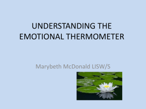 UNDERSTANDING THE EMOTIONAL THERMOMETER