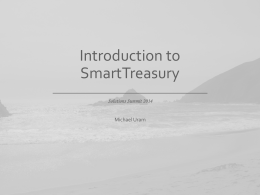 SmartTreasury_Intro_to_ST - Chesapeake System Solutions