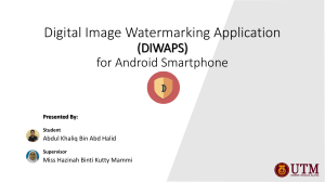 Digital Image Watermarking Application (DIWAPS
