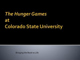 The Hunger Games at Colorado State University