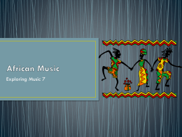 African Music Powerpoint