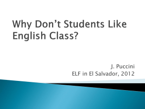 Why Don*t Students Like English Class?