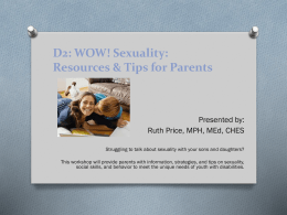 Sexuality: Resources and Tips for Parents