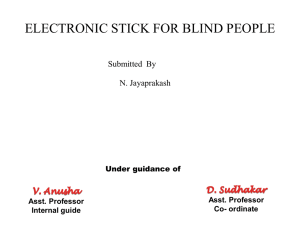 electronic stick for blind people