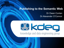 Publishing to the Semantic Web