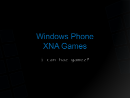 Windows Phone XNA Games