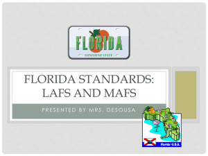 Florida standards - Somerset Academy Silver Palms Elementary