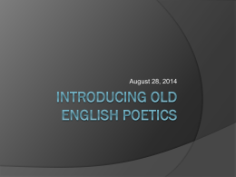 Old English Poetics Kennings and Riddles 2014