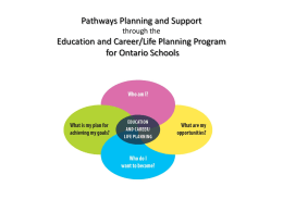 (Where?) Education and Career/Life Planning Program