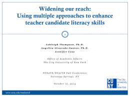 Enhancing Literacy Skills for Teacher Candidates (ALST)