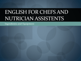 English for chefs and ERN